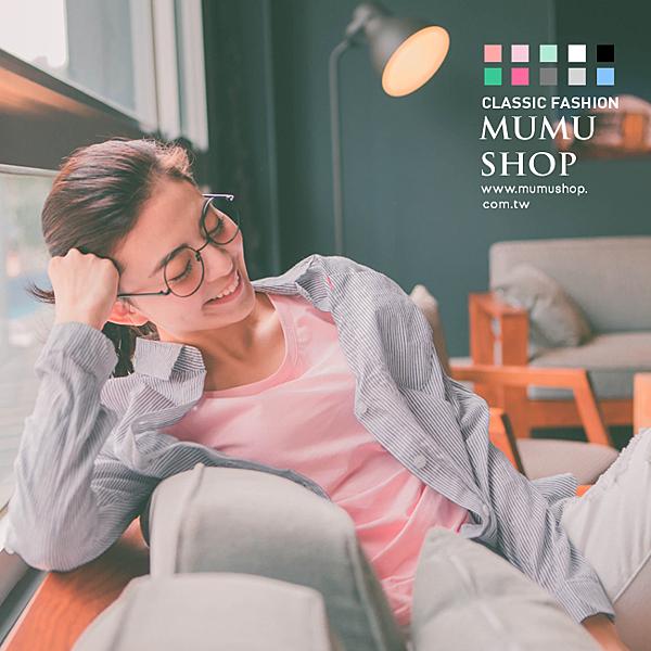 MUMU【T33612】圓領。超棉柔觸感。涼感舒適糖果色T恤。十色 S-XL
