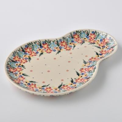 波蘭陶 桃花源系列 葫蘆造型餐盤 波蘭手工製