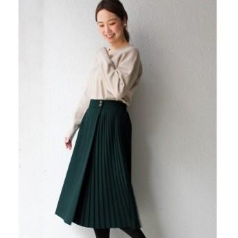 le.coeur blanc / ルクールブラン サイドプリーツラップ風スカート
