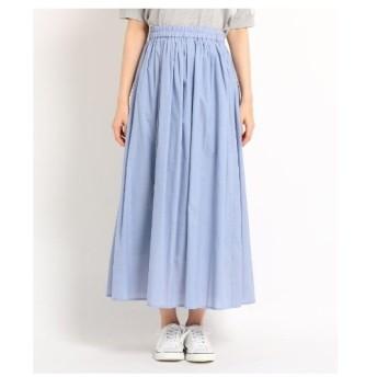 Dessin(Ladies)(デッサン(レディース))【洗える】【ウエストゴム】レーヨン混ギャザースカート
