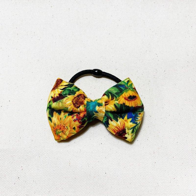 太陽花 蝶結髮飾 髮圈