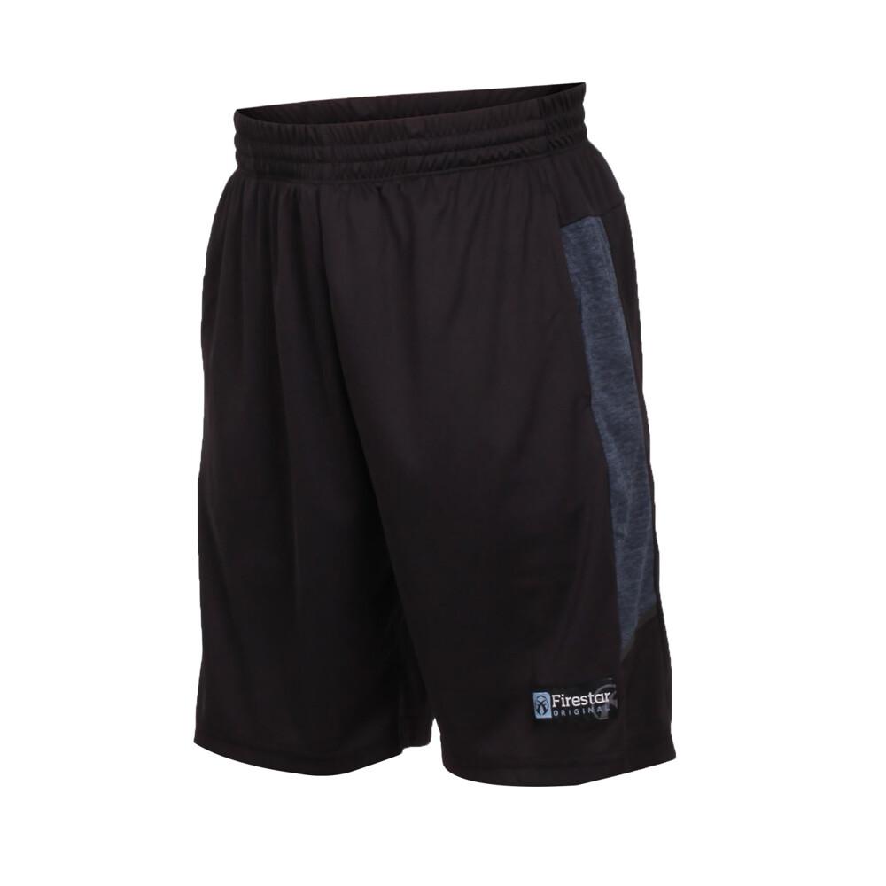 firestar 男吸濕排汗籃球短褲-球褲 慢跑 黑灰