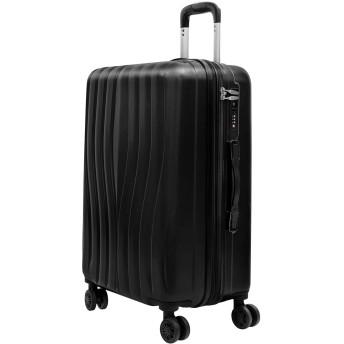 EOWO スーツケース キャーリーケース S,M,L 軽量 TSAロック付き ファスナー開閉タイプ ダイヤルロック バッグ かばん 旅行用品 ビジネス おしゃれ(L,ブラック)96BAA