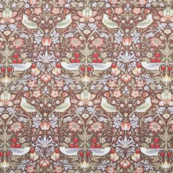 ロマンス小杉 2847-5312-7500 V&Aウォームパイル掛け布団カバー ブラウン イチゴ泥棒 シングル