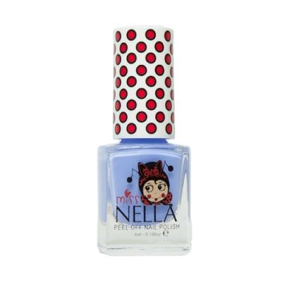 英國 【MISS NELLA】兒童水性可撕式安全指甲油 鈴鐺藍 MM12