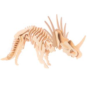 DIY材料包 3D恐龍彩繪拼圖 刺盾角龍 Styracosaurus 戟龍屬