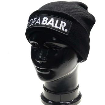BALR. ボーラー メンズニットキャップ LIFEOFABALR.Big Club Logo Beanie / 10453 ブラック