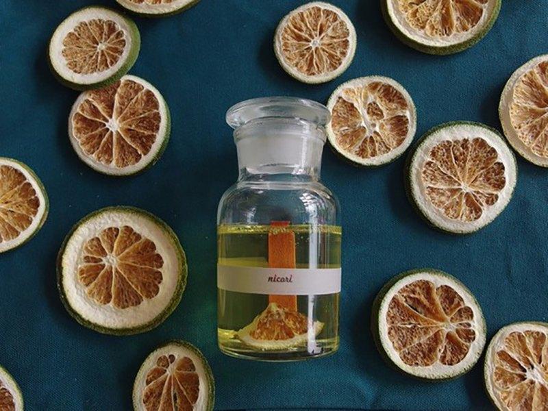 [聲音香薰蠟燭柑橘混合精油100%] BOOTBNICAL BOTTLE CANDLE