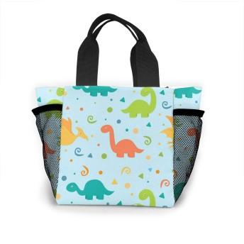 カラフルなかわいい恐竜 トートバッグ 買い物バッグ レディース おしゃれ バッグ ハンドバッグ エコバッグ 人気 ランチバッグ