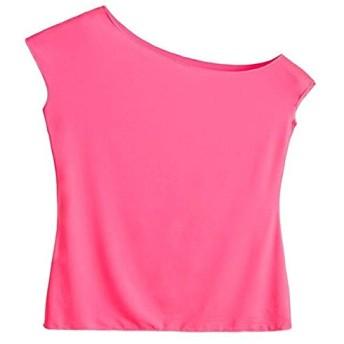 緑色ピンク黒婦人服80年代のTシャツ80年代のパーティにTシャツの上着 Xxl 赤
