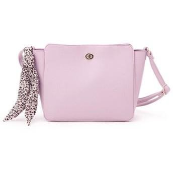 pink adobe(ピンクアドベ) <ヒョウ柄スカーフ付き>スクエア型ショルダーバッグ