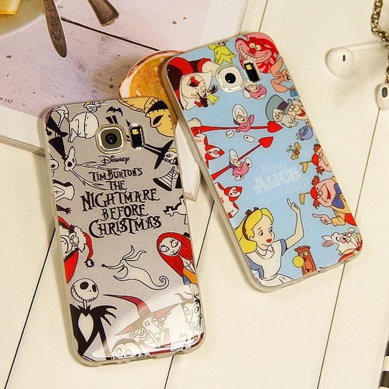 三星note3手机壳note4套镜面软壳硅胶S6edge手机壳内印万圣爱丽丝
