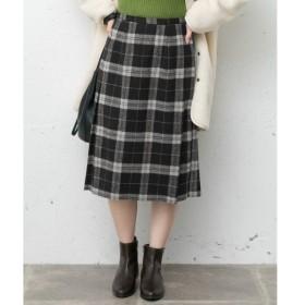 Sonny Label / サニーレーベル ウールミックスチェックプリーツスカート
