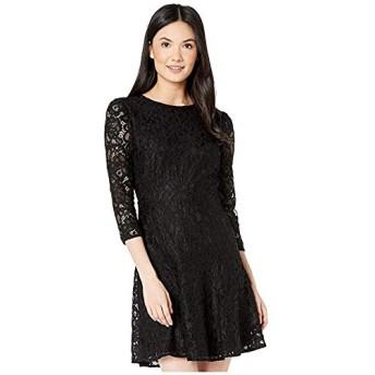 [Sam Edelman(サムエデルマン)] ドレス・ワンピース Lace Fit-and-Flare Black 25cm [並行輸入品]