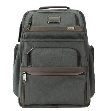 TUMI ALPHA 3 多功能雙拉鍊內袋後背包 適用15吋筆電 炭灰