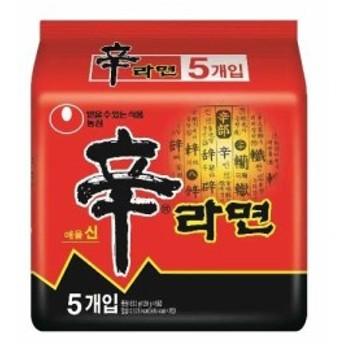 【農心 ノンシン 大人気 辛ラーメン 1箱 5食×4袋入り 20食分】[代引選択不可]
