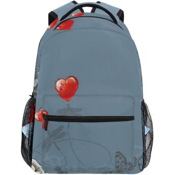 NINEHASA 新しいリュックサック人気リュックおしゃれ 大容量 軽量 通学 旅行ハイキングキャンプバッグ ビンテージグランジローズ花びらハートプリント