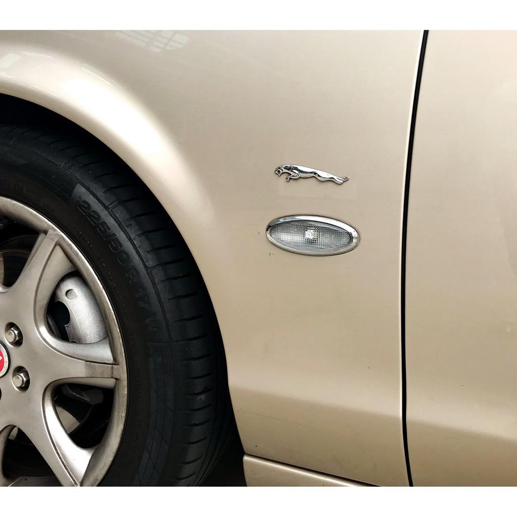 圓夢工廠 Jaguar S-Type S TYPE STYPE 1998~2008 改裝 鍍鉻銀 側燈框飾貼 方向燈框貼