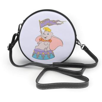 ショルダーバッグ ダンボ ハンドバッグ レザー 斜めがけバッグ 肩掛け 上品 カジュアル 防水 軽量 丸型 通勤 旅行 誕生日 プレゼント 小さめ かわいい おしゃれ