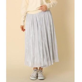 Couture Brooch / クチュールブローチ 【手洗い可】オーロラサテンプリーツスカート