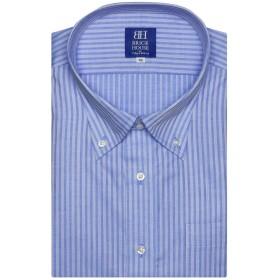 ブリックハウス ワイシャツ 半袖 形態安定 ボットーニ ボタンダウン 3L・4L メンズ BM019202AA43V1A-10 ブルー 47(半袖)