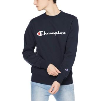 [チャンピオン] スクリプトロゴ クルーネックスウェットシャツ ベーシック C3-Q007 メンズ ネイビー 日本 M (日本サイズM相当)