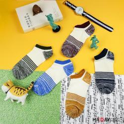 HADAY 男襪 麻花編織強彈力短襪 簡單魅力 女生也可以穿 船型襪 5色 共5雙 四季可穿-高針220細膩