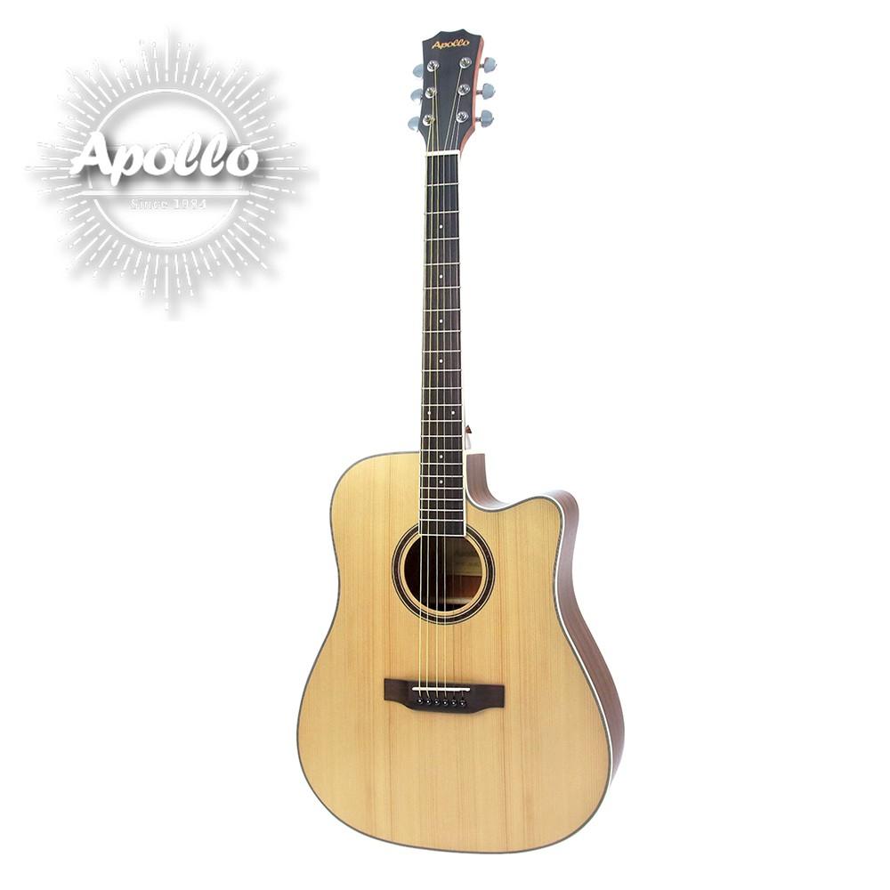 APOLLO A1-DCE 缺角電民謠吉他 原木色款【敦煌樂器】