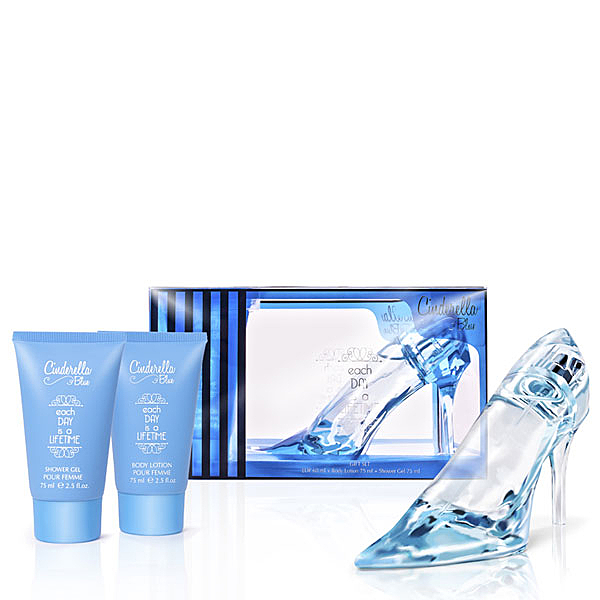 Cinderella 仙杜瑞拉 藍色 女性淡香精禮盒(淡香精60ml+身體乳75ml+沐浴膠75ml)【娜娜香水美妝】