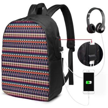 バックパック USB ポート搭載 17インチPC対応 トライアングル3 大容量ビジネスリュック 通勤 通学 出張 旅行 メンズ レディース
