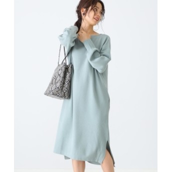 B:MING by BEAMS B:MING by BEAMS / 総針ボートネック スリット ニットワンピース 19AW レディース ワンピース MINT. GRN ONE SIZE