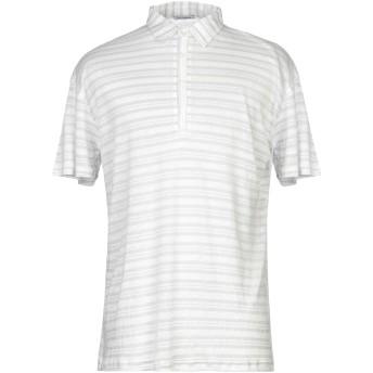 《セール開催中》PAUL MIRANDA メンズ ポロシャツ ライトグレー L リネン 69% / レーヨン 31%