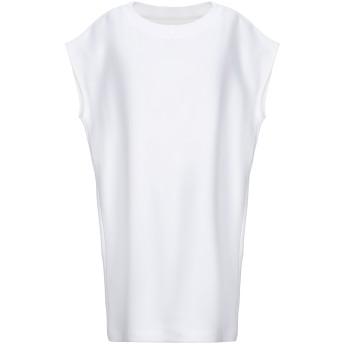 《セール開催中》MAISON MARGIELA レディース スウェットシャツ ホワイト L コットン 100% / ポリウレタン