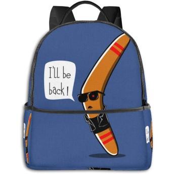 私は戻ってきます!青 リュック バックパックリュックサック 大容量 PCバッグ レジャーバッグ 旅行カバン 登山リュック ビジネスリュック ユニセックス おしゃれ 人気
