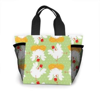 鶏はコードを引く トートバッグ おしゃれ レディース バッグ 買い物バッグ ランチバッグ エコバッグ ハンドバッグ