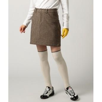 BEAMS GOLF BEAMS GOLF PURPLE LABEL / ブロークンハウンドトゥース スカート レディース ミニスカート BEIGE M