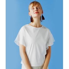 OZOC(オゾック)/[洗える]フレアスリーブゆるTシャツ