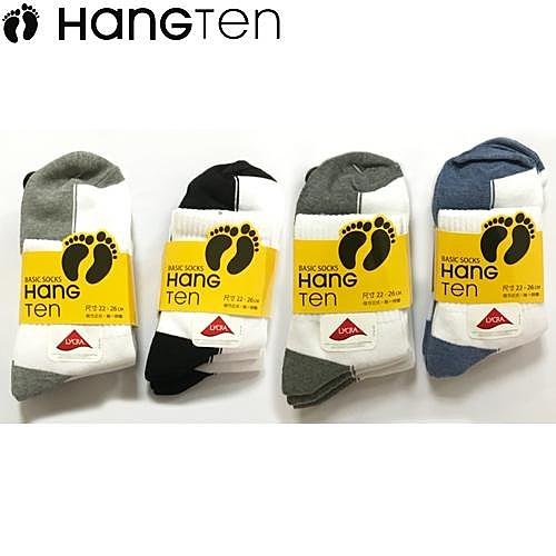HANG TEN 1/2陰陽襪-3雙裝(22~26cm)【愛買】