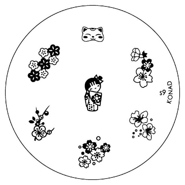 Konad 圓形圖案版 - s09
