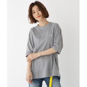 BASE CONTROL LADYS(ベース コントロール レディース) フェイクスエード ビッグシルエット 半袖 Tシャツ