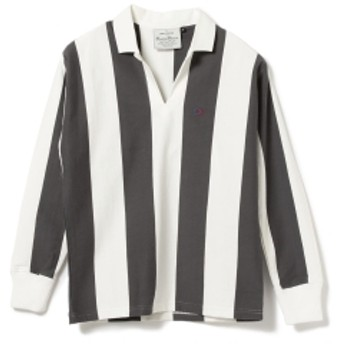 BEAMS PLUS ROWING BLAZERS / SAINT RAPHAEL RUGBY SHIRT メンズ ポロシャツ White&Black S