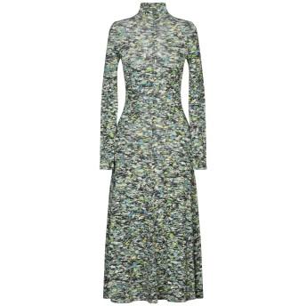 《セール開催中》ROSETTA GETTY レディース 7分丈ワンピース・ドレス グリーン S レーヨン 95% / ポリウレタン 5%