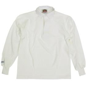 バーバリアン BARBARIAN クラシック ラグビーシャツ ソリッド オールホワイト L