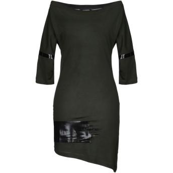 《セール開催中》DSQUARED2 レディース ミニワンピース&ドレス ミリタリーグリーン XS コットン 100%