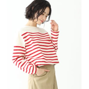 BEAMS BOY BEAMS BOY / ナバルボーダー ビッグ ボートネック カットソー レディース カットソー RED ONE SIZE