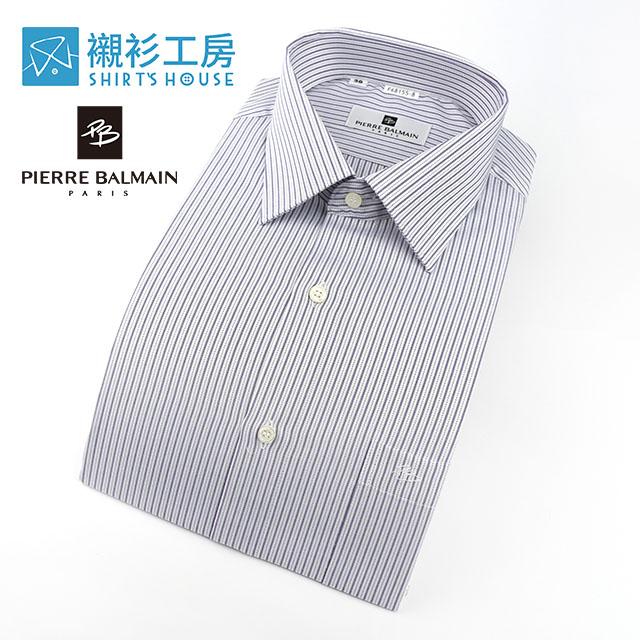 皮爾帕門pb紫色細條紋熱賣必備男仕長袖襯衫68155-08 -襯衫工房