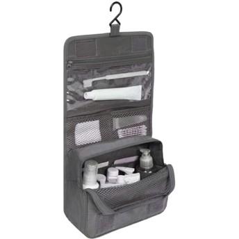 吊り下げ式化粧品バッグ防水大型旅行美容化粧品バッグ個人衛生バッグオーガナイザー グレー