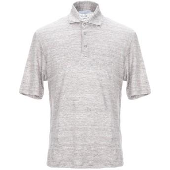 《セール開催中》FILIPPO DE LAURENTIIS メンズ ポロシャツ ドーブグレー 46 リネン 100%