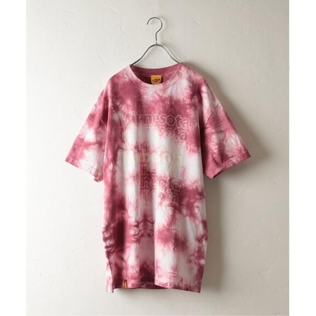 JOURNAL STANDARD relume UNIV. PRINT タイダイTシャツ ボルドー XL