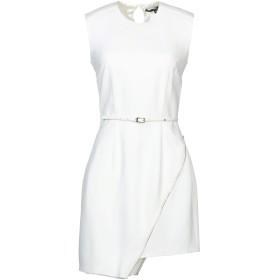 《セール開催中》ELISABETTA FRANCHI レディース ミニワンピース&ドレス ホワイト 40 レーヨン 50% / アセテート 47% / ポリウレタン 3%
